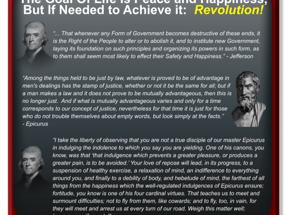 You Say You Want A Revolution?  Look to Epicurus