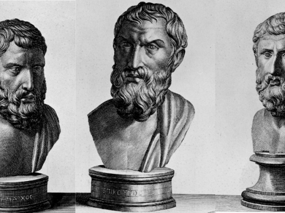 Hermarchus, Epicurus, and Metrodorus - Etchings of Herculaneum Busts