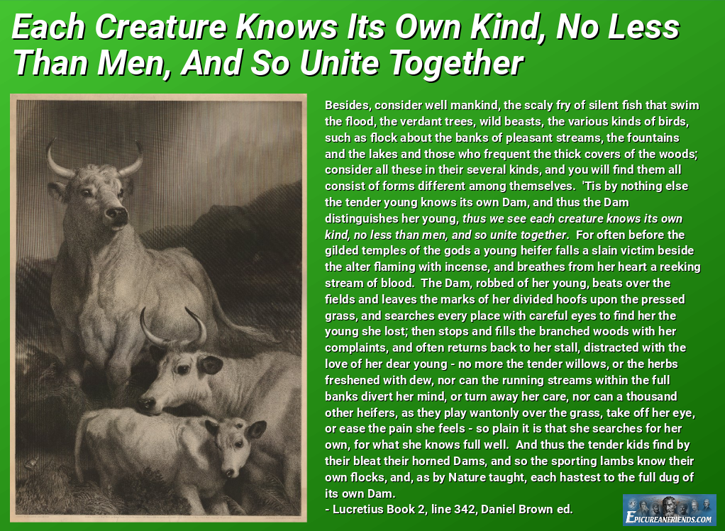 """""""Each Creature Knows Its Own Kind...."""""""