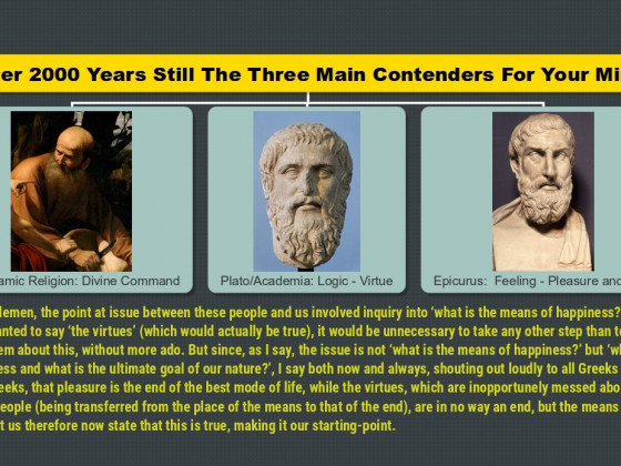 After 2000 Years Still The Three Main Contenders For Your Mind