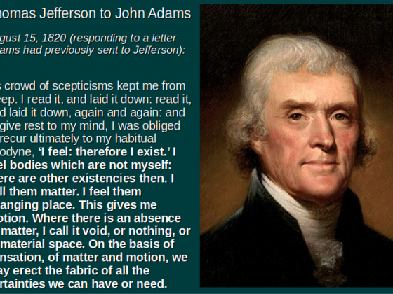 Jefferson on Scepticism