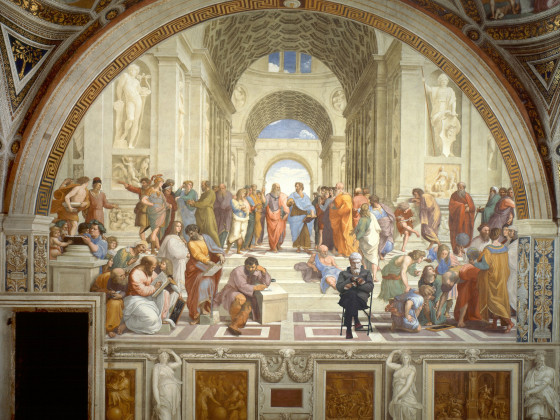The School of Athens with Epicurus Sanders