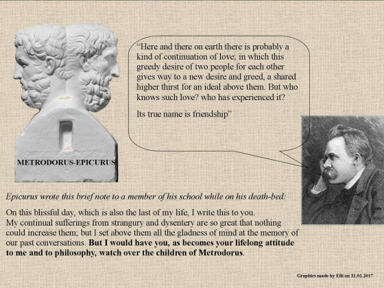 Nietzsche and Epicurus on Friendship