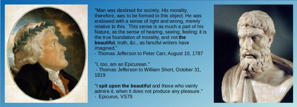 """Epicurus and Jefferson on """"Beauty"""""""