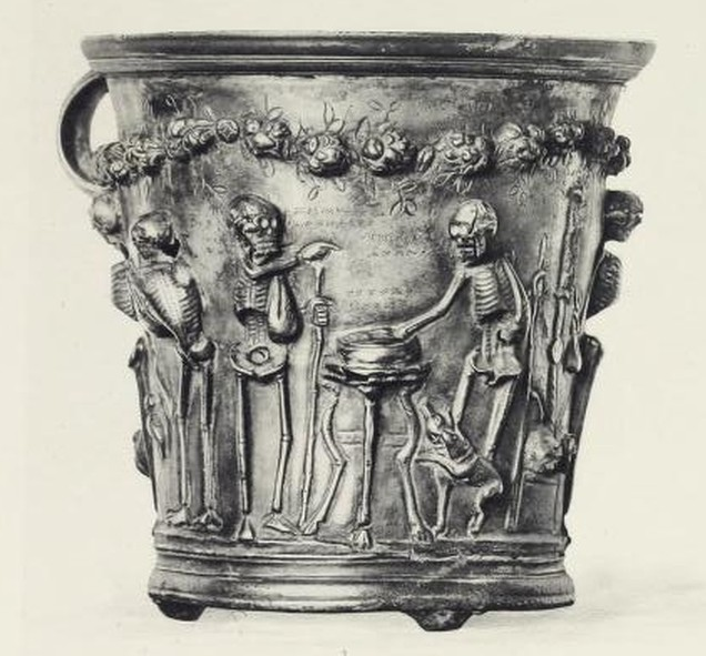 Boscoreale Cup - Zeno Pointing At Epicurus