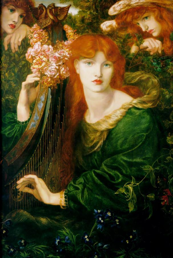 Dante Gabriel Rossetti, La Ghirlandata, 1873