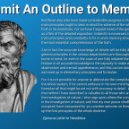 Commit An Outline To Memory