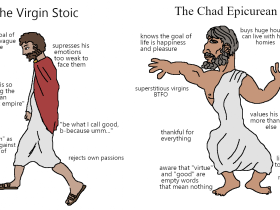 Virgin Stoic vs Chad Epicurean