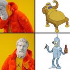 Epicurean Drake Meme Futurama Robots