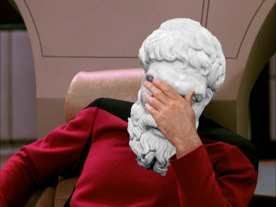 Epicurus Facepalm Meme Template