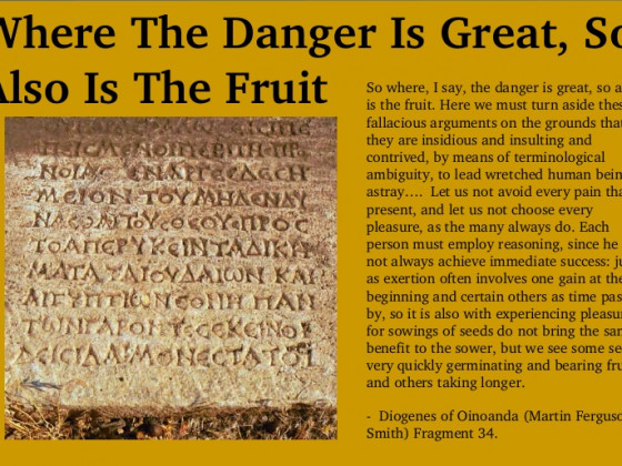 Where The Danger Is Great, So Also Is The Fruit