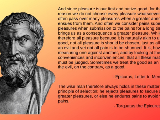 Torquatus / Epicurus / The Intelligent Pursuit of Pleasure