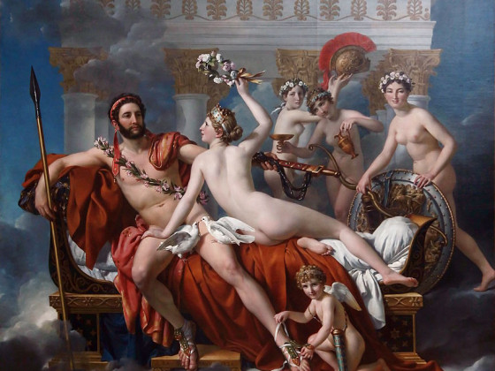 Mars Being Disarmed by Venus - Jaques-Louis David