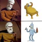 Geordi-picurus Lovable Bender vs. Hedonismbot