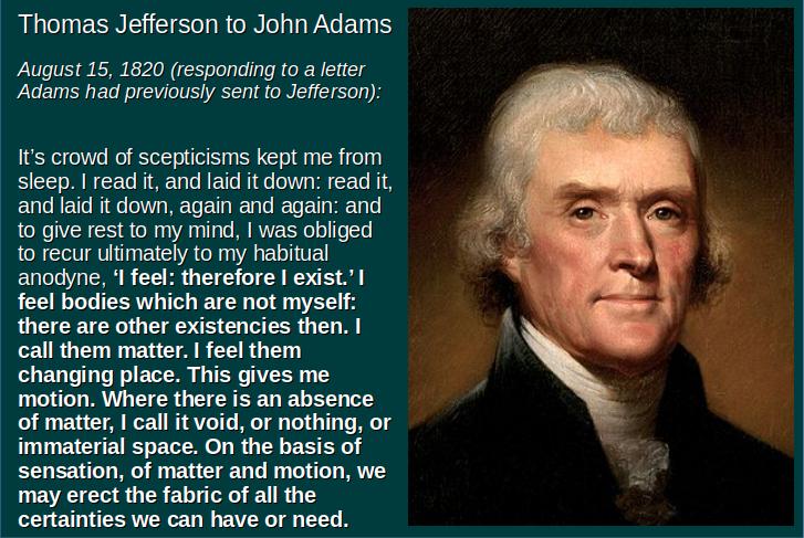 Jefferson on Scepticism