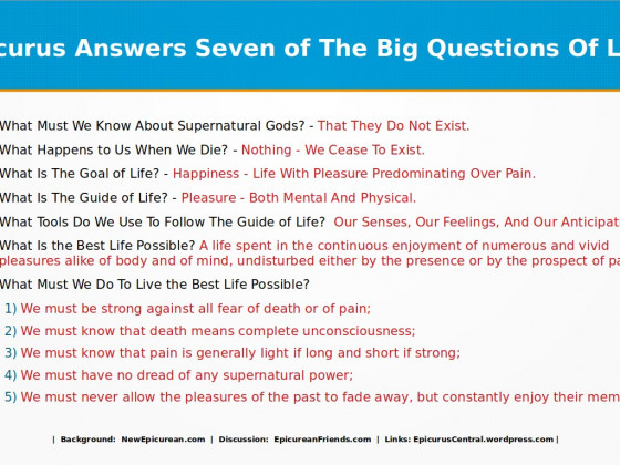 Epicurus Answers Seven Big Questions Of Life