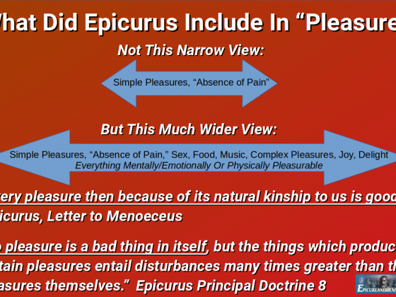 "What Did Epicurus Include In ""Pleasure?"""