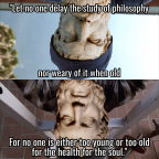 Epicurus and Metrodorus Lifting Philosophical Weights