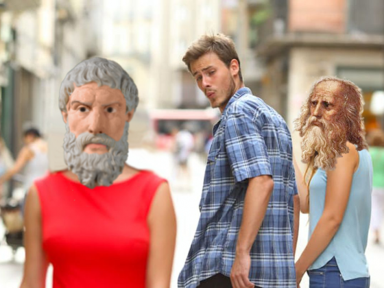 Plato's Distracted Boyfriend