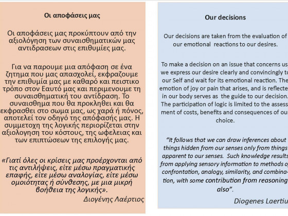 Diogenes Laertius - Epicurus On Decision-making