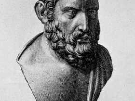 Hermarchus Etching From Herculaneum Bust