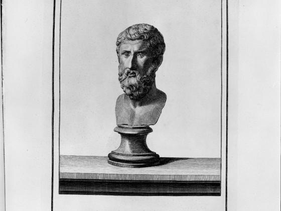Metrodorus Etching of Herculaneum Bust