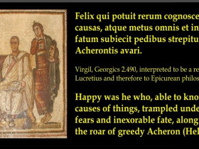"Virgil - Quote from The Georgics - ""Happy Was He....."""